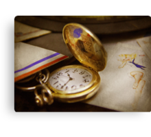 Clock Maker - Time never waits  Canvas Print