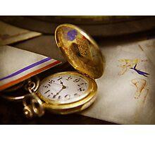 Clock Maker - Time never waits  Photographic Print