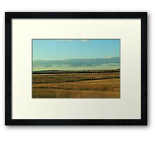 Wyoming Train Framed Print