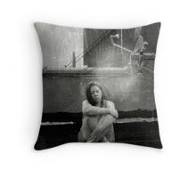 I'm a satellite heart, lost in the dark... Throw Pillow