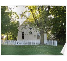 Cozy Country Church Poster