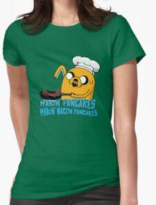 MAKIN' PANCAKES, MAKIN' BACON PANCAKES. Womens Fitted T-Shirt
