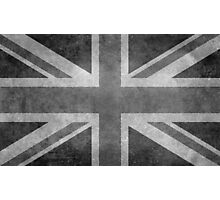 Union Jack Vintage 3:5 Version in grayscale Photographic Print