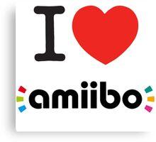 I <3 Amiibo  Canvas Print