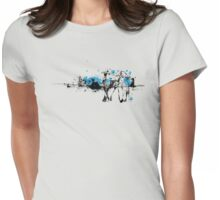 Love Birds Illustration Womens Fitted T-Shirt