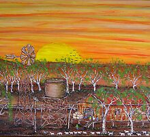 The Shearing Shed; Original Australian Acrylic Painting; FOR SALE by EJCairns