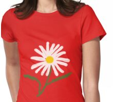 Daisy Doodle Womens Fitted T-Shirt