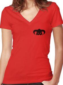 Dovahkiin Helmet Women's Fitted V-Neck T-Shirt