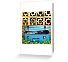 Pug In a Suitcase Greeting Card