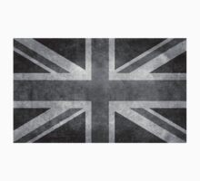 Union Jack Vintage 3:5 Version in grayscale One Piece - Long Sleeve