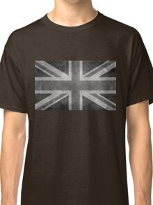 Union Jack Vintage 3:5 Version in grayscale Classic T-Shirt