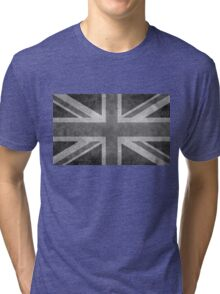 Union Jack Vintage 3:5 Version in grayscale Tri-blend T-Shirt