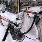Two Carousel Horses by WoolleyWorld