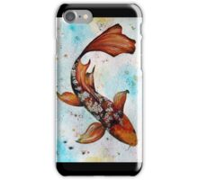Butterfly Koi Gouache Painting iPhone Case/Skin
