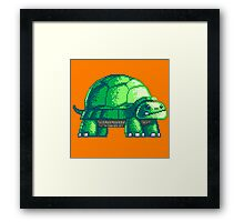 Pixel Art Turtle Framed Print