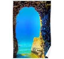Steep Rock Manitoba Limestone Caves with Azure sky Poster