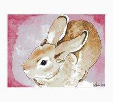 Daily Doodle 1 - Mini Rex Rabbit Watercolor One Piece - Short Sleeve