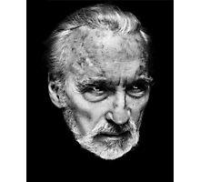 Sir Christopher Lee Photographic Print