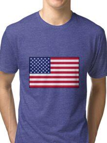 American flag Tri-blend T-Shirt