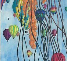 Jellyfish, Hot Air Balloon by Robert Monahan