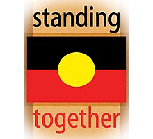 Standing Together Aboriginal Flag Photographic Print