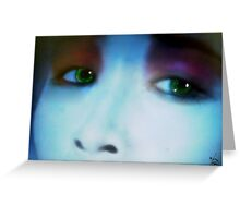 Eyes of Green Greeting Card