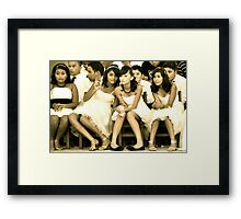 Girls Being Girls Framed Print