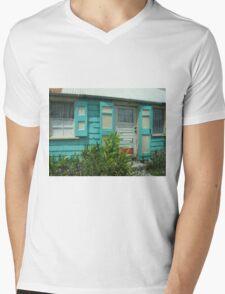 blue shutters Mens V-Neck T-Shirt