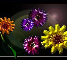 Metal Flowers by Untamedart