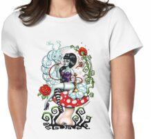 Alice in Zombieland - Schmokin' Caterpillar (white) Womens Fitted T-Shirt
