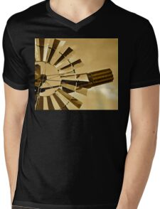 Windmill in Sepia special Edit for the lovely BEV xx Mens V-Neck T-Shirt