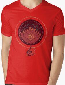 Red Lotus Mens V-Neck T-Shirt