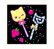 Kawaii Kitty Sprinkles Art Print
