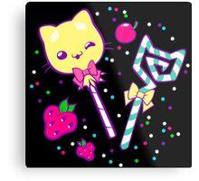 Kawaii Kitty Sprinkles Metal Print