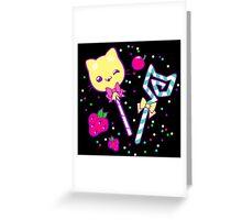 Kawaii Kitty Sprinkles Greeting Card