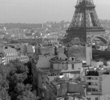 High Above Paris Sticker