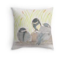 """""""chatter! chirp! chirp""""   for JD Throw Pillow"""