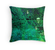 Haunted Hedges. Throw Pillow