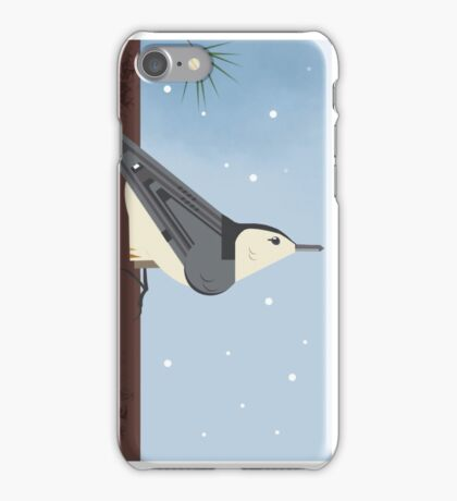 White Breasted Nuthatch iPhone Case/Skin