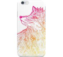 Fox (warm colors) iPhone Case/Skin