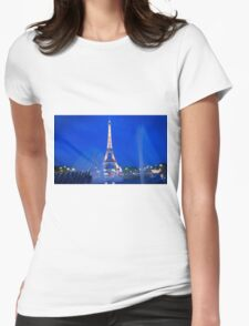 Eiffel Sparkle Womens Fitted T-Shirt