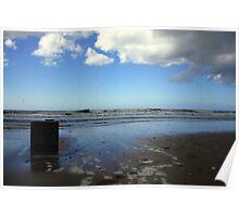 Sea, Blue Sky & Clouds Poster