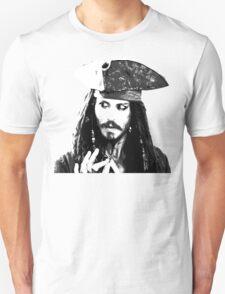Awesome Johnny Depp - Stencil - Pirates Caribbean - Street art Graffiti Popart Andy warhol T-Shirt