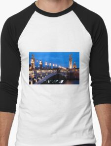 Paris At Night Men's Baseball ¾ T-Shirt
