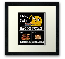 How To: Bacon Pancakes Framed Print
