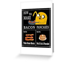 How To: Bacon Pancakes Greeting Card