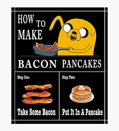 How To: Bacon Pancakes Photographic Print