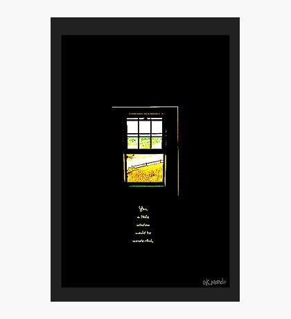 A Little Window Photographic Print