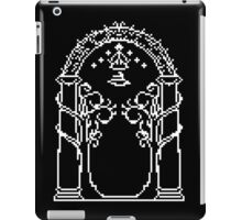 Moria's door - pixel art iPad Case/Skin