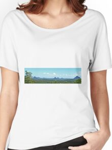 Glasshouse Mountains (Panorama) Women's Relaxed Fit T-Shirt